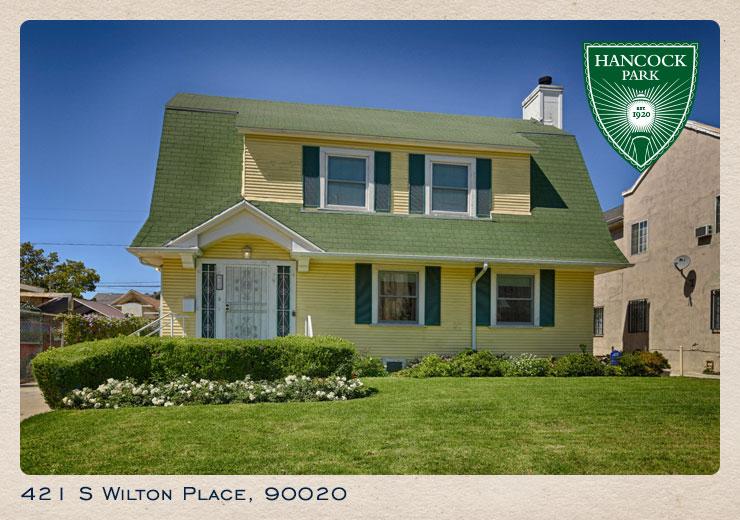 421 S Wilton Place postcard